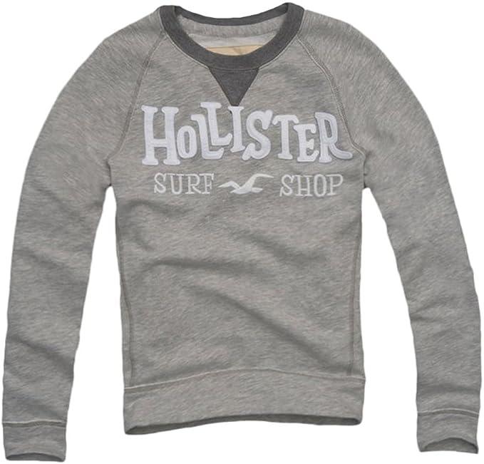Hollister - Camisa casual - Cuadrados - Manga Larga - para hombre gris gris L: Amazon.es: Ropa y accesorios