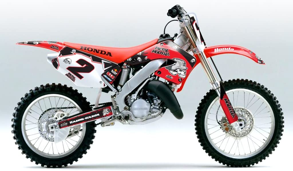 Rojo Skull MX Motocross Kit DE Decal para Honda CR 125 2000-2001