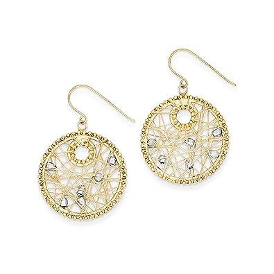 Black Bow Jewellery Company Ohrringe 14 Karat Bicolor Gold Kreis ...