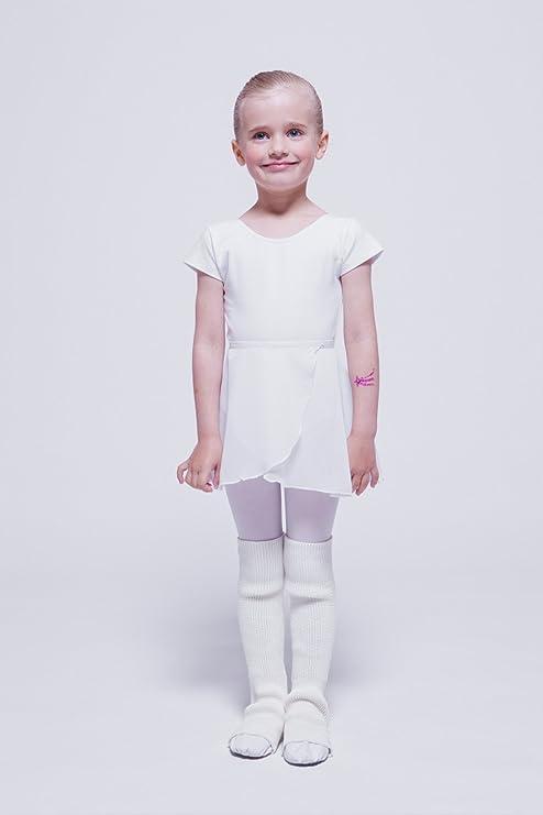 calentadores de ballet blancos