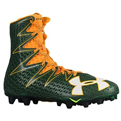 brand new 8b098 fe674 Image Unavailable. Image not available for. Color  Under Armour UA  Highlight MC Men s Green-Gold Football Cleats ...