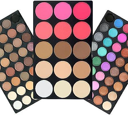 TOFAR 95 colores paleta de sombra de ojos Gama de Mate de Fundación Blusher Sombreador de Ojos Reflejo de Maquillaje impermeable sombra de ojos paleta conjuntos: Amazon.es: Belleza