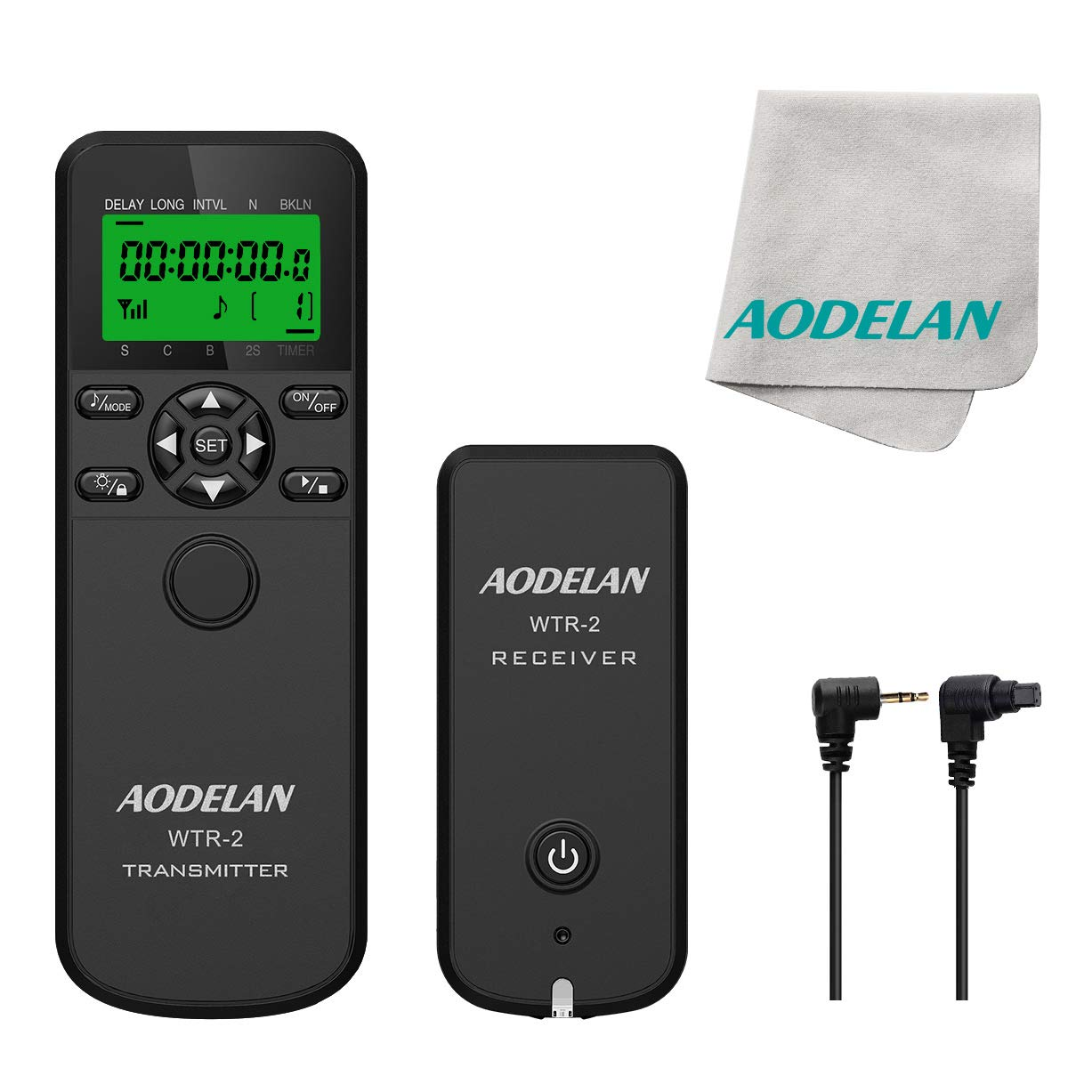 AODELAN Wireless Shutter Remote Release Control for Nikon D5200, D3100, D5000, D7200, D600, D610, D750, D3200, D3300 by AODELAN