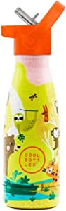 Cool Bottles Botella de Agua de Acero Inoxidable para Niños | Jungle Park | 260 ml | BPA-Free
