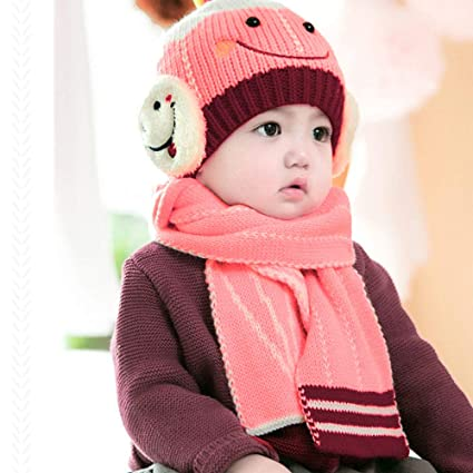 Amazon.com  Jshuang Smiley Child Hat Scarf 18e5157c043