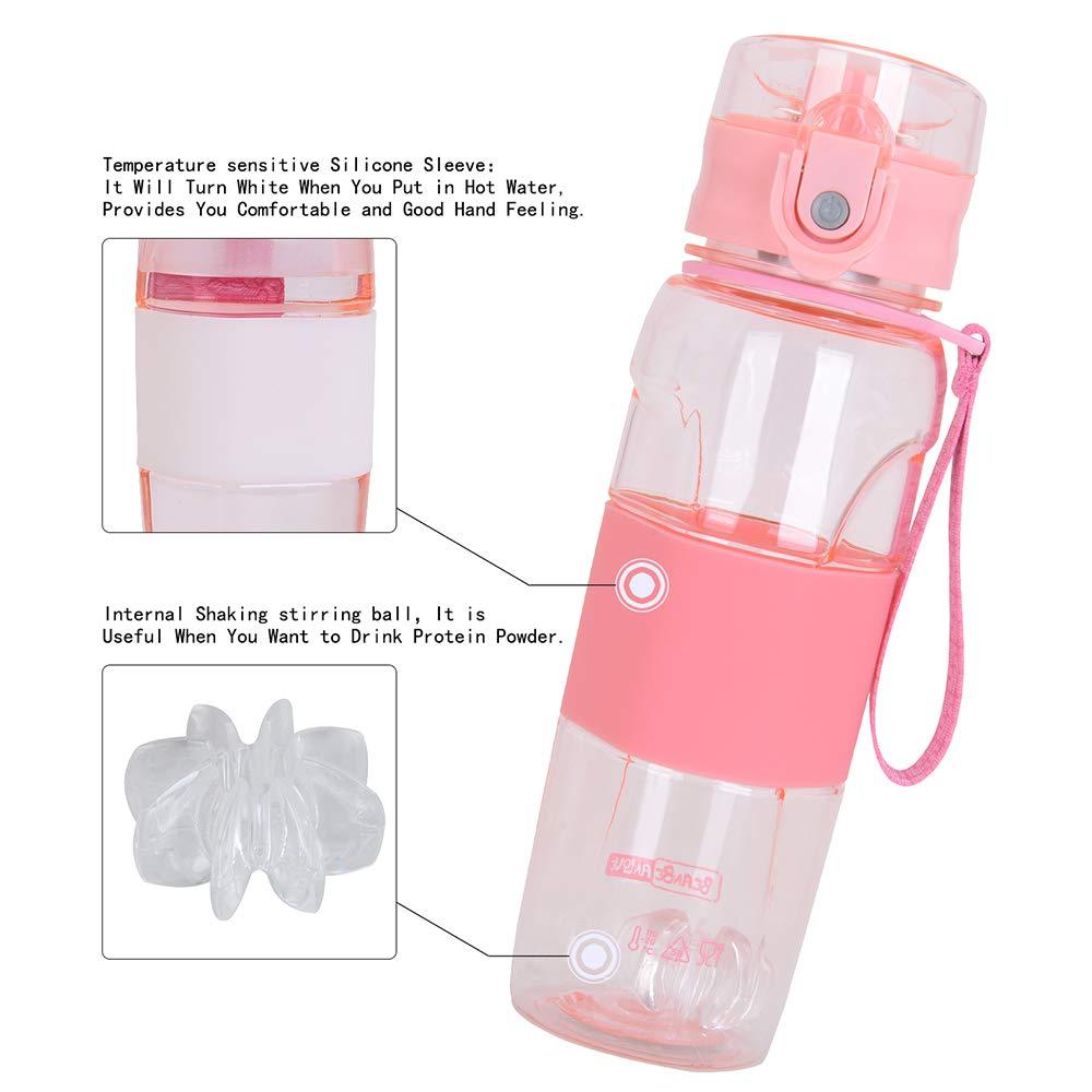 Cantimplora Agua para Gimnasio Camping Bicicleta Botella Agua Deporte 500ml MaYee Botella de Agua Deportiva Sin BPA Oficina Yoga Aire Libre