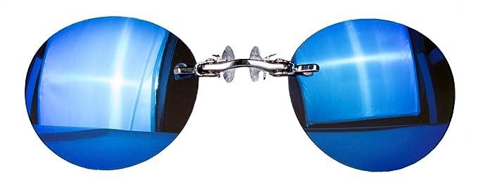 Nasenkneifer Sonnenbrille / Zwickel in verschiedenen Farben (One Size, rot verspiegelt)