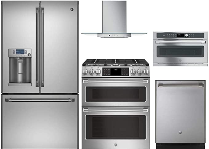 Amazon.com: GE Cafe 5-Piece Stainless Steel Kitchen Package ...