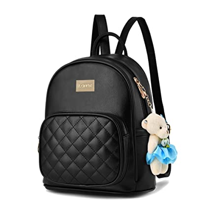 6f5f615945fd Women Leather Backpack Purse Satchel School Bags Casual Travel Daypacks  Black for Girls