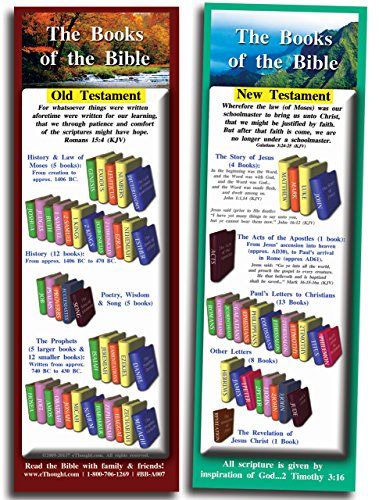Books of the Bible - Pack of 25 Cards (2.75x8.25)