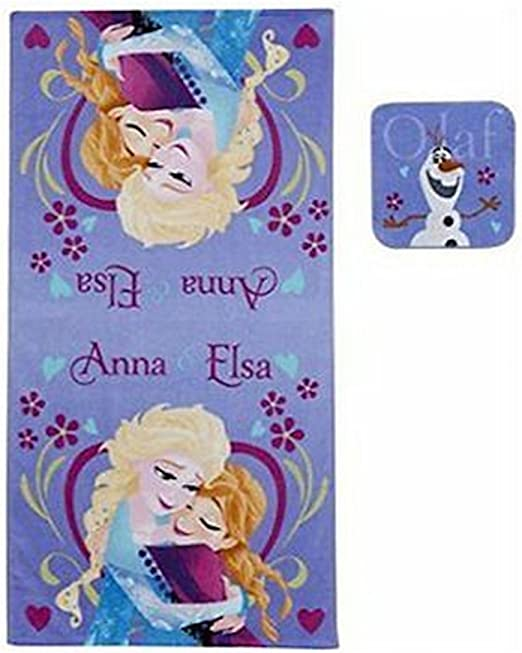 NEW Disney/'s Frozen Elsa /& Anna Hooded Towel
