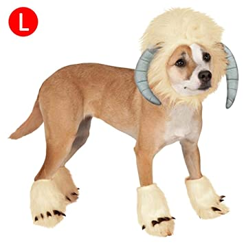 Là Vestmon Pets Cosplay Clothes Costume Perros Cats Pelucas Funny Sheep Shaped Headgear