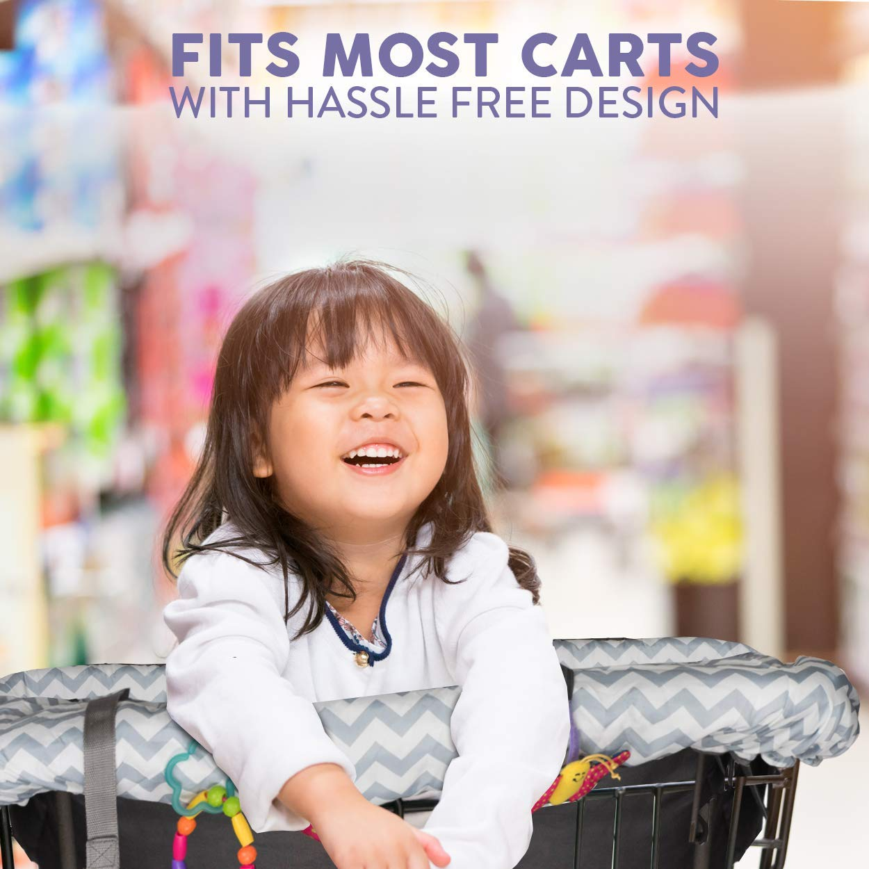 Baby Cart Cover with Cushion BabysDrive Shopping Cart Covers for Baby Loaded with Baby-Friendly Features Fits All Shopping Carts High Chair Cover