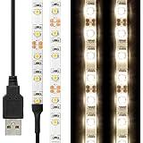 LEDテープライト 貼レルヤ USB (白色 4000K) 1m 60灯・両面テープで好きな場所に貼り付け可能・ハサミでカットして長さを変えられます【JTTオンラインオリジナル商品】