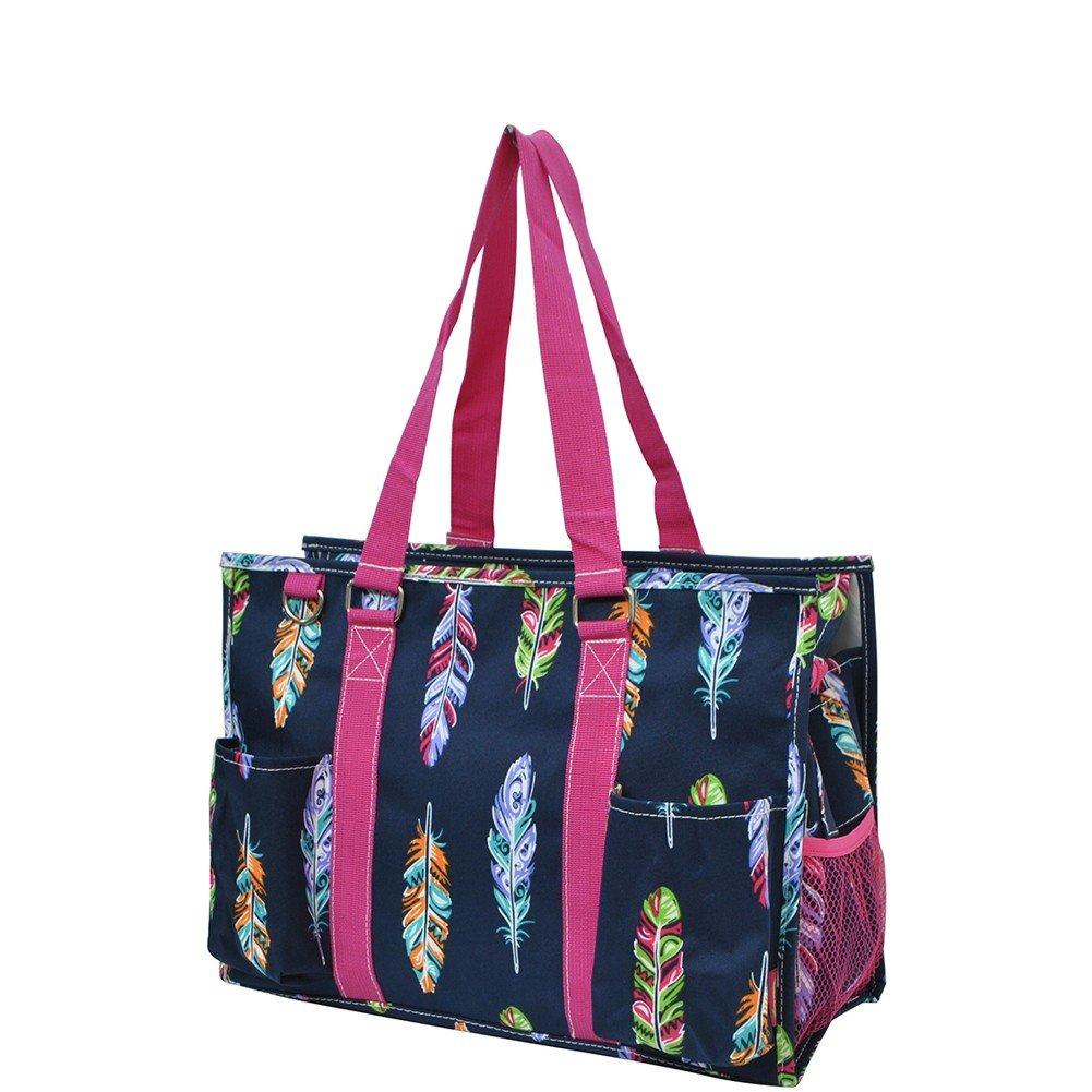 NGIL Themed Prints Zippered Caddy Organizer Tote Bag