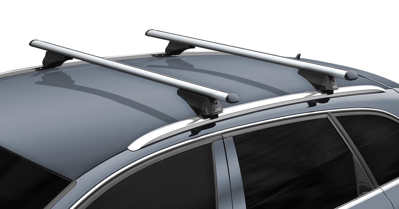 8K Avant 2008-2014 aufliegende Dachreling Alu Dachträger Tiger schwarz Audi A4