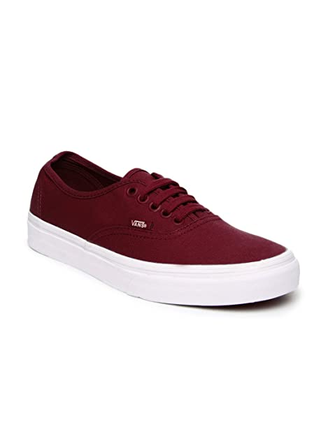 4a7ceb5bd6a545 Vans Unisex Maroon Authentic Casual Shoes (9UK)  Buy Online at Low ...