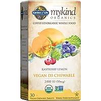 Garden of Life Vitamin D3 - mykind Vegan Organic D Vitamin Whole Food Supplement for Immune and Bone Health, 2000 IU…