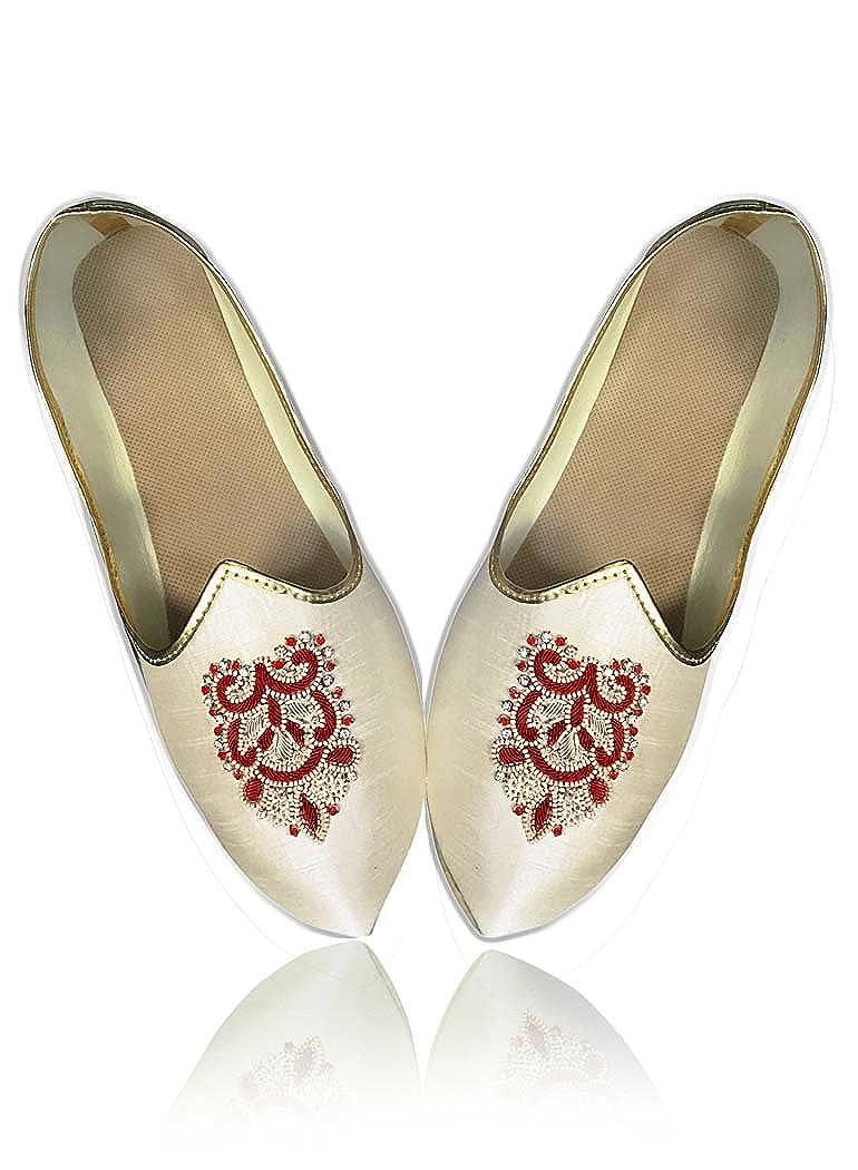 INMONARCH Crema Hombres Novio Zapatos de Boda MJ0192 40 EU