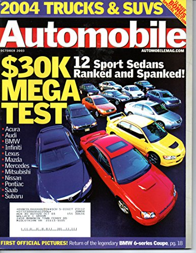 Automobile 2004 Magazine, October 2003 (Vol 18, No 7)