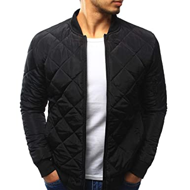 df6035965 Amazon.com: aliveGOT Men's Diamond-Quilted Jacket Winter Warm Thick ...