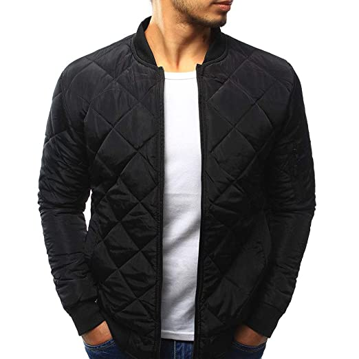 8f60fa94c654 Amazon.com  aliveGOT Men s Diamond-Quilted Jacket Winter Warm Thick ...