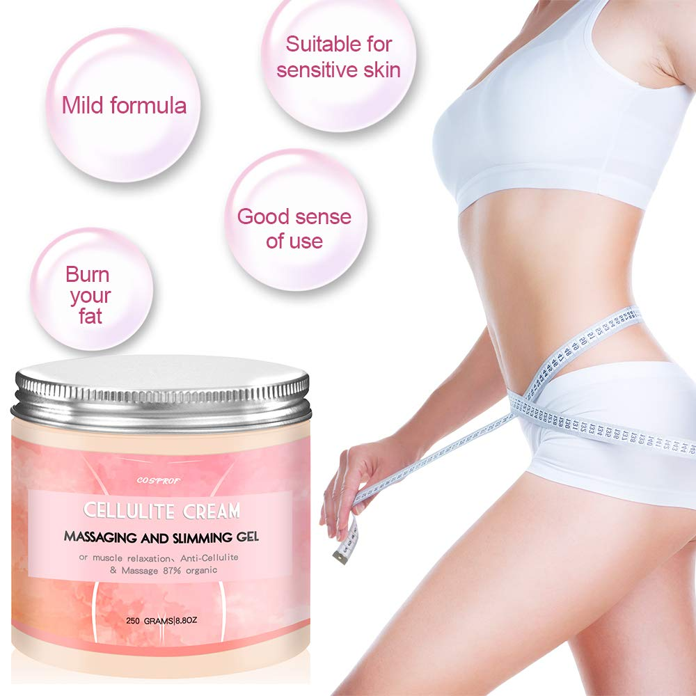Cosprof Anti Cellulite Body Slimming Cream, Hot Cream Treatment & Weight Loss,Belly Fat Burner for Women and Men, 8.8oz. by Cosprof (Image #3)
