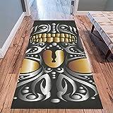InterestPrint Home Contemporary Holy Skull Design Modern Runner Rug Carpet 10'x3'3''
