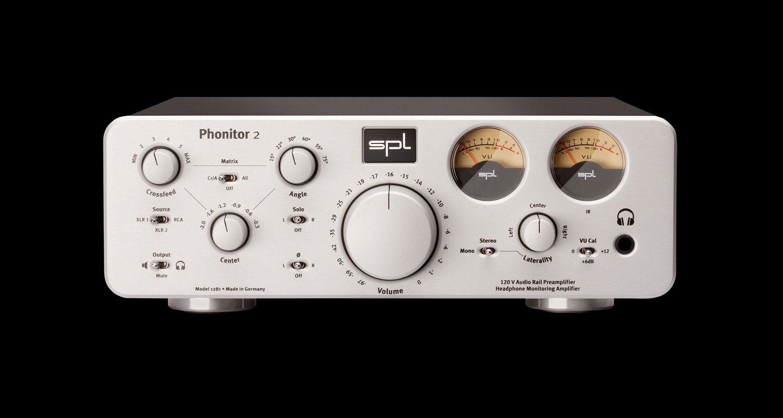 SPL Phonitor 2 Headphone Amp/Preamp Silver-for Balanced & Unbalanced Headphones
