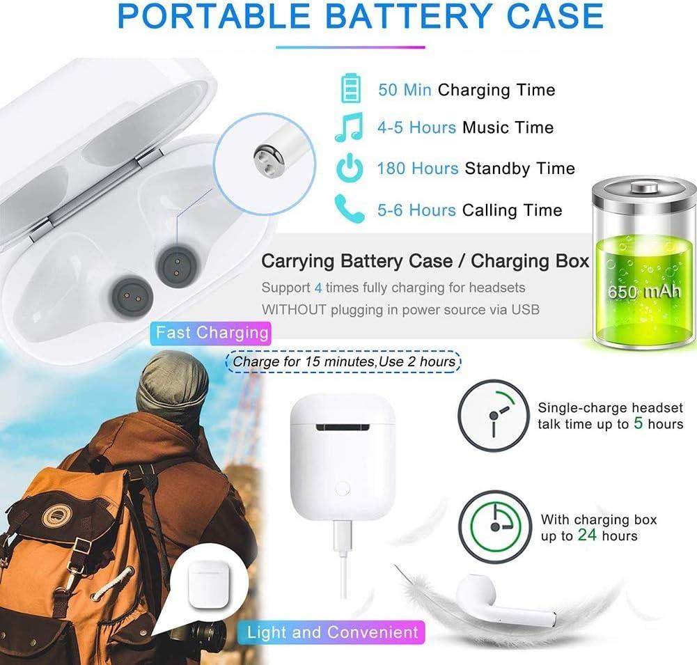 Ecouteurs Bluetooth Ecouteurs sans Fil Oreillette Bluetooth Ecouteurs Bluetooth 5.0 Couplage Automatique Ecouteurs /à r/éduction de Bruit dans loreille avec /étui de Chargeur Appels Mains Libres
