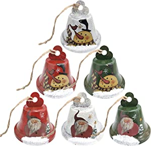Jingle Bells, 6 Pack Christmas Bell Ornament Decoration, Christmas Tree Pendants for Dog Doorbell & Potty Training, Housebreaking, Making Wind Chimes