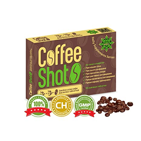 Coffee Shot - 30 comprimidos | Extracto de café tabletas | Extracto de Café Natural a