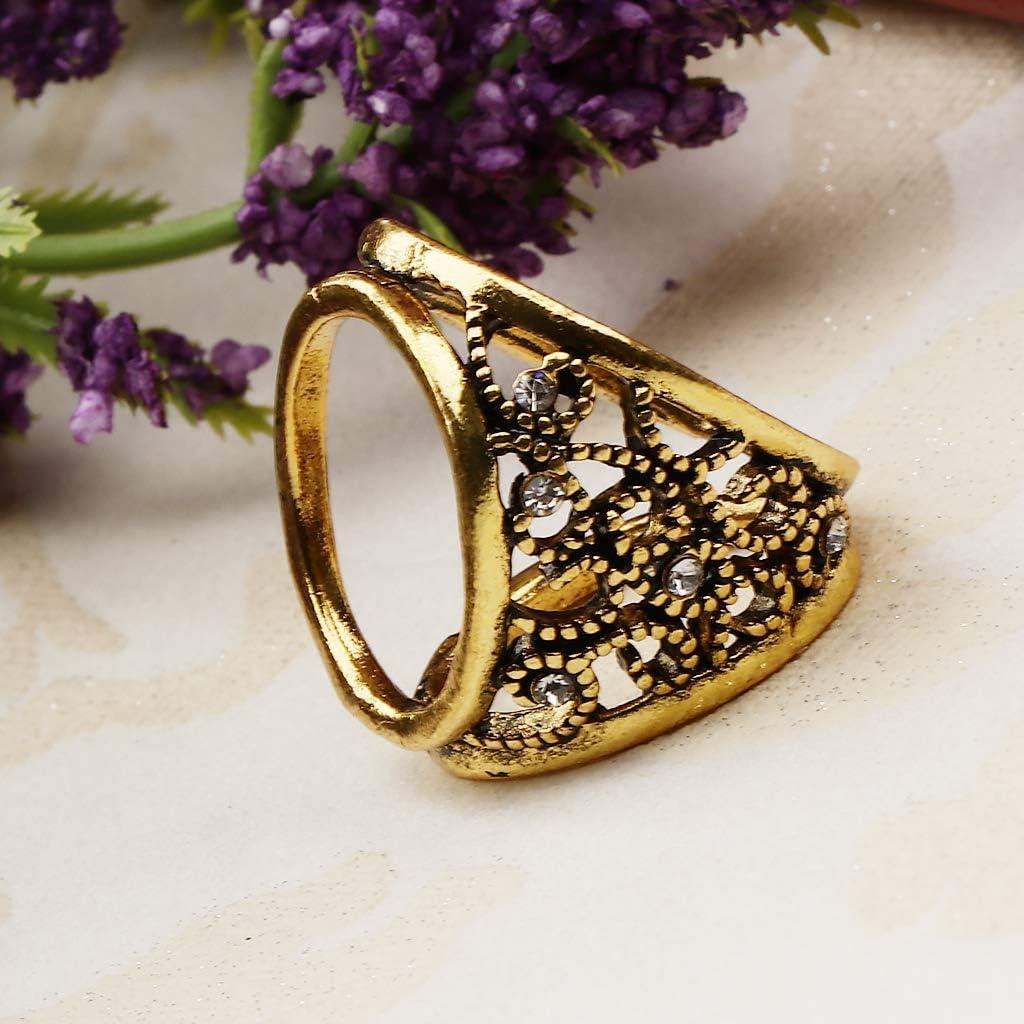Bonarty Lady 3-Ring Rhinestone Scarf Clip Ring Silk Chiffon Buckle Scarf Decorations