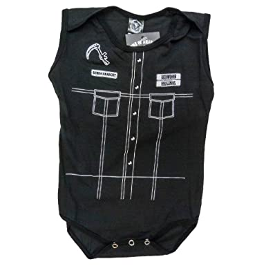 SOA Sons of Anarchy Reaper Costume Leather Vest Infant Baby Romper Snapsuit (12-18  sc 1 st  Amazon.com & Amazon.com: SOA Sons of Anarchy Reaper Costume Leather Vest Infant ...