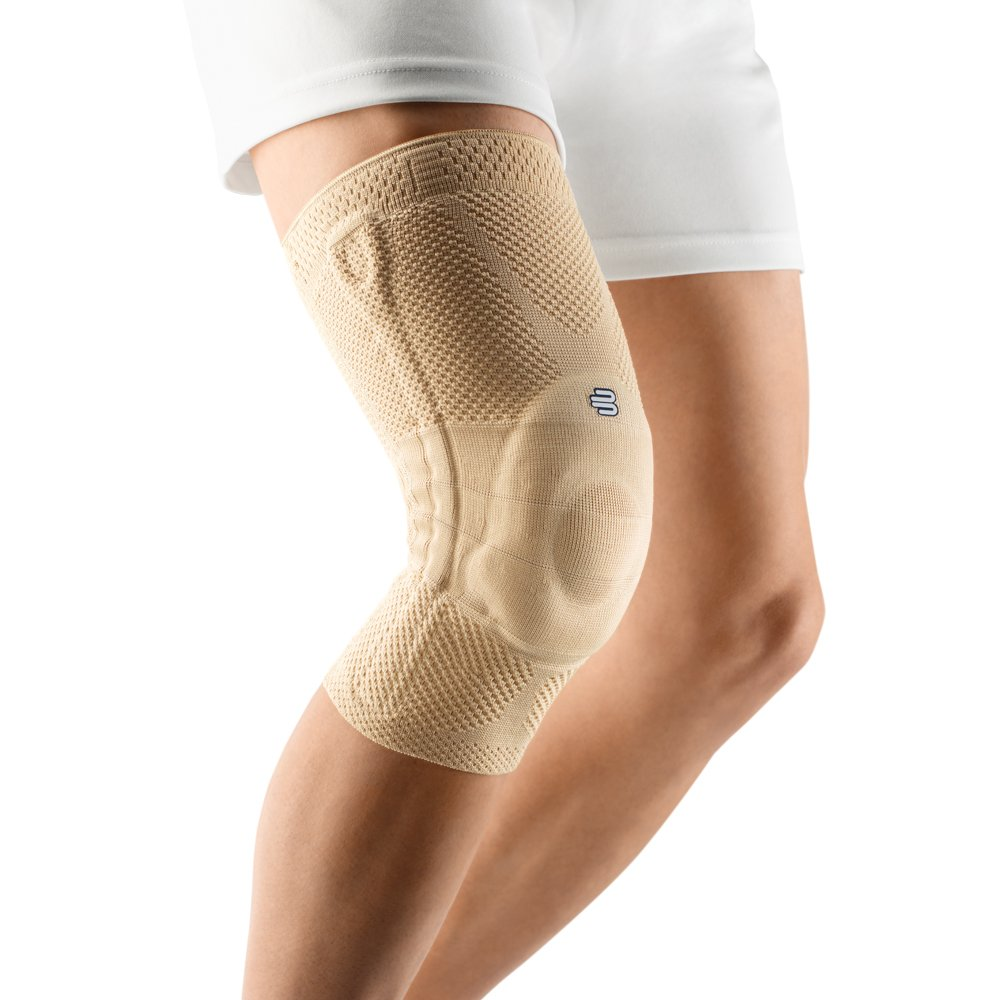 Bauerfeind - GenuTrain - Knee Support Brace - Targeted Support for Pain Relief and Stabilization of The Knee - Size 0 - Color Nature