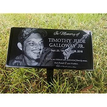 Amazon.com : Ceramic Memorial Angel Grave Marker Photo Frame ...