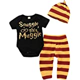 3Pcs Infant Kids Romper Shorts Headband Outfits Set MOLYHUA Toddler Girls Boys Clothes