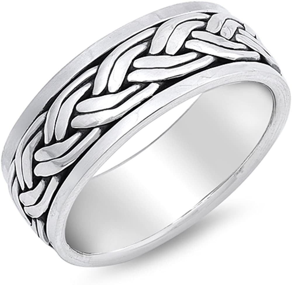 Princess Kylie 925 Sterling Silver Eternity Celtic Filigree Fashion Ring