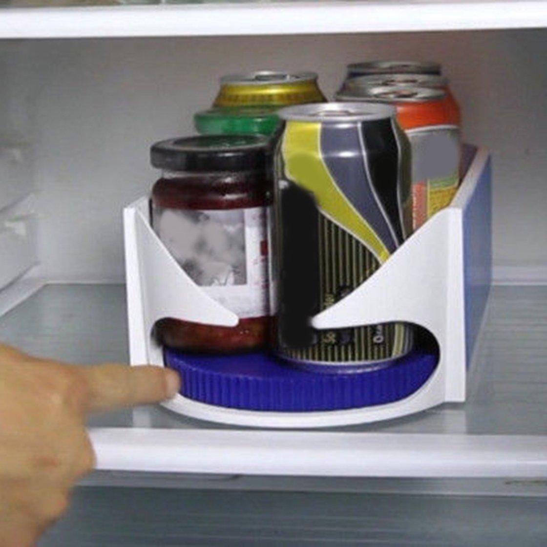 Organizzatore girevole della cucina della cremagliera del supporto della bottiglia della scatola di stoccaggio rotante del doppio BlackPJenny
