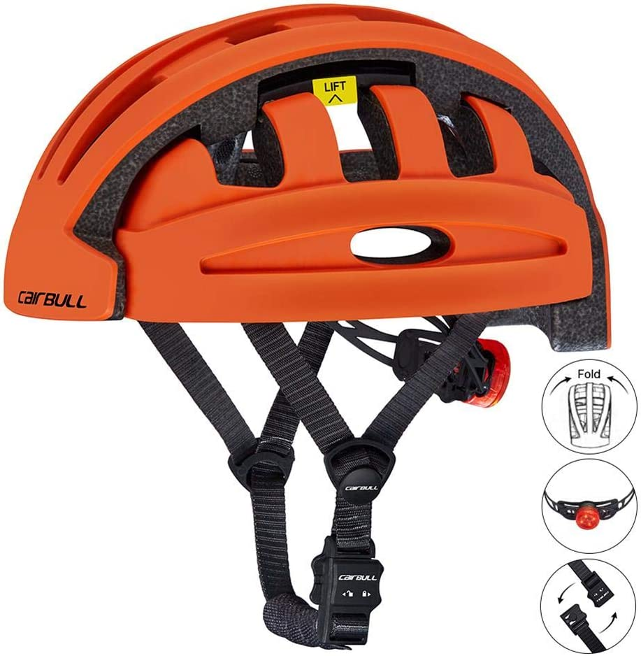 Mountain Road Bike Bicycle Helmets for Adult Men Women Comfort Lightweight Breathable Adjustable Safety Racing Urban Commuter with Rear Light for Electric Scooter Balance Bike