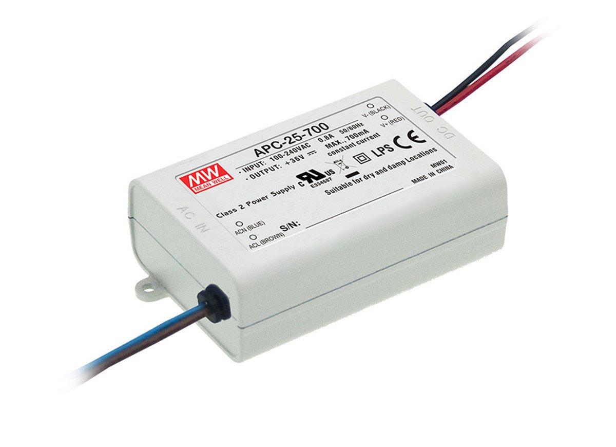 LED Alimentazione 25W 11-36V 700mA ; MeanWell APC-25-700 ; corrente constante