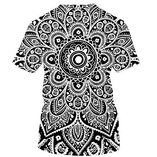 Print Gray Floral Vtements Shirts Courtes Hommes T 3D Femmes Mtydudxe Unisexe Couple T Shirts Manches 6wC51qE