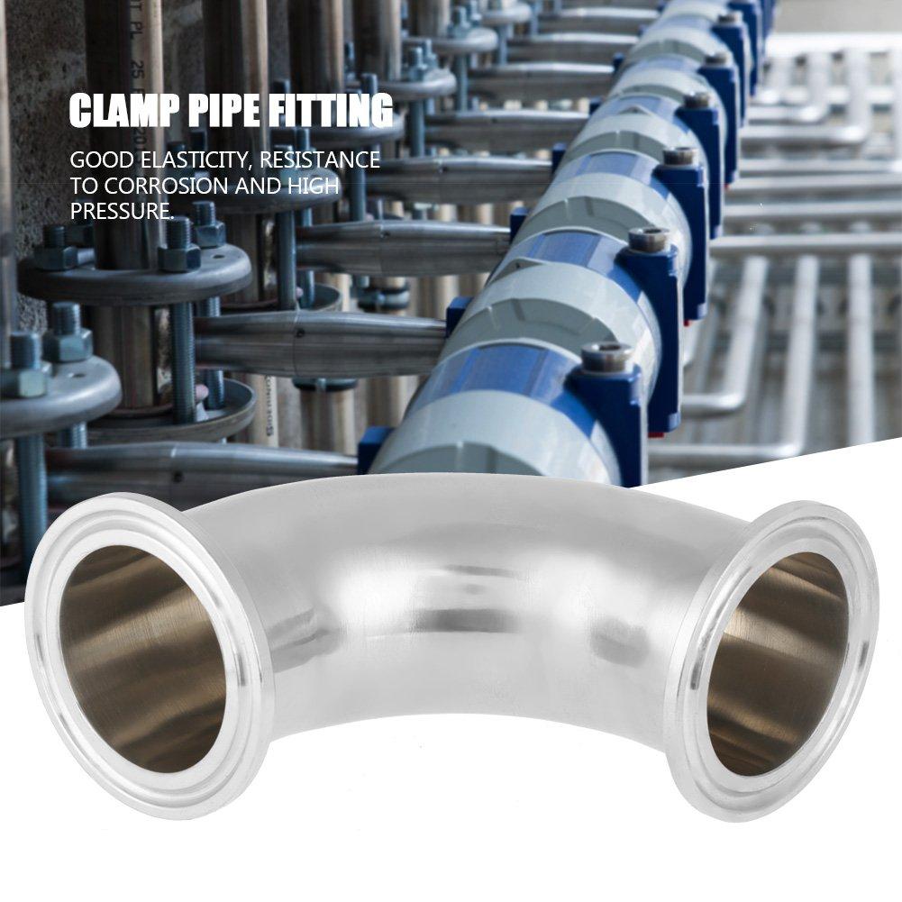 90/° Ellenbogen Rohrbogen Rohrfitting Sanit/är Edelstahl Ferrule Rohrverbindung Tri Clamp 1.5