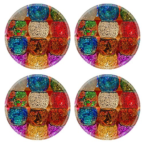 MSD Round Coasters Non-Slip Natural Rubber Desk Coasters design 35242607 Crystal lamps for sale on the Grand Bazaar at (Pattern Crystal Table Lamp)
