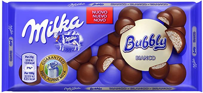 Milka tableta de chocolate leche y blanco(e 100 g): Amazon.es: Alimentación y bebidas