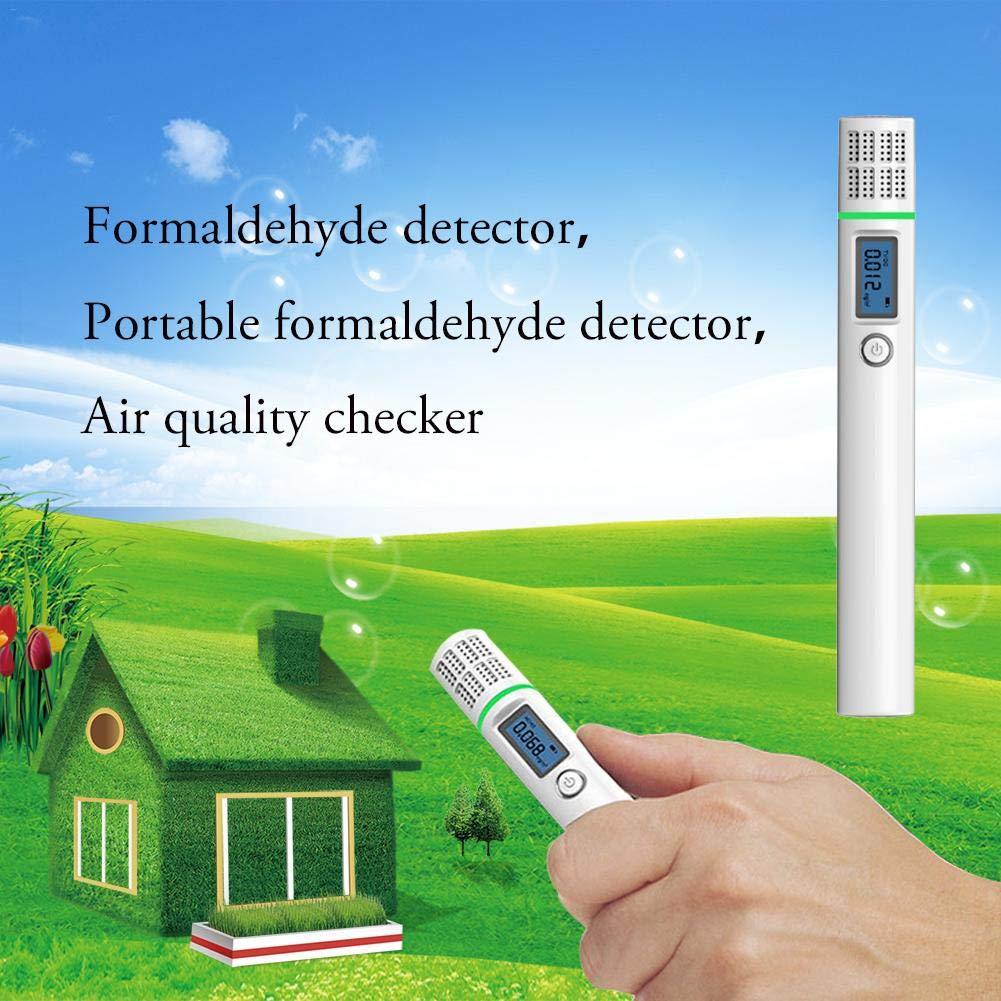Riverry Detector de formaldehído portátil Calidad del Aire Benceno Indicador de concentración de Gas doméstico Detector del Sensor Detector de autocontrol ...