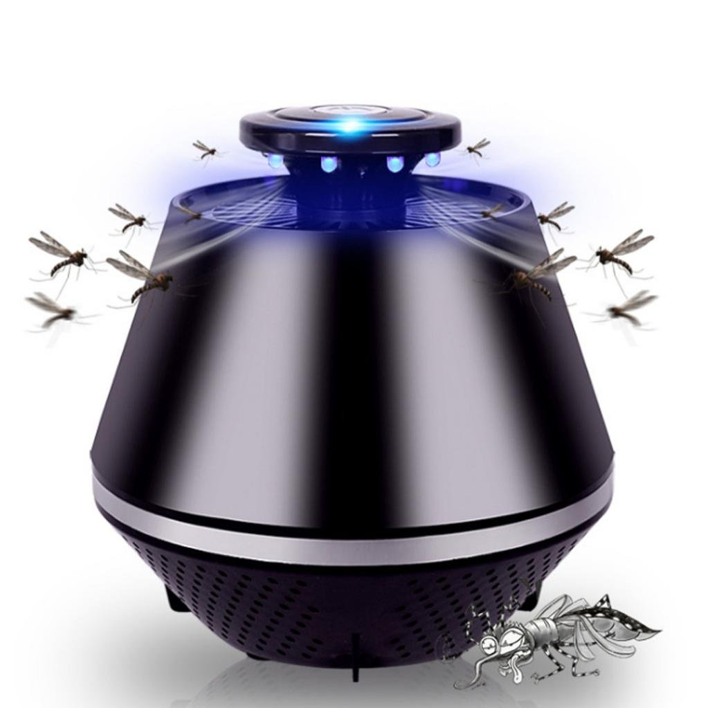 Mosquito Killer Electric Pest Control Fly Bug Insect Killer for Home Restaurant Hotel Gessppo (Black)