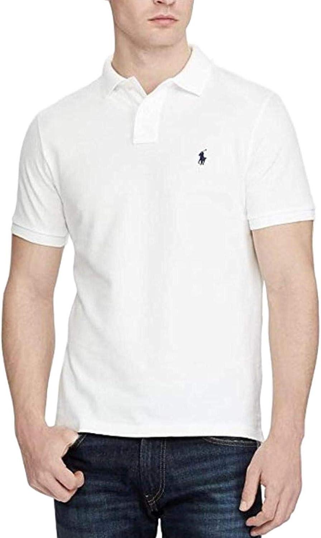 Polo Ralph Lauren Mens Medium Fit Interlock Pony Shirt- White -Large
