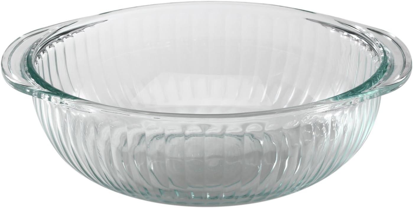 Pyrex Serveware 2-Qt Sculpted Bowl, Clear