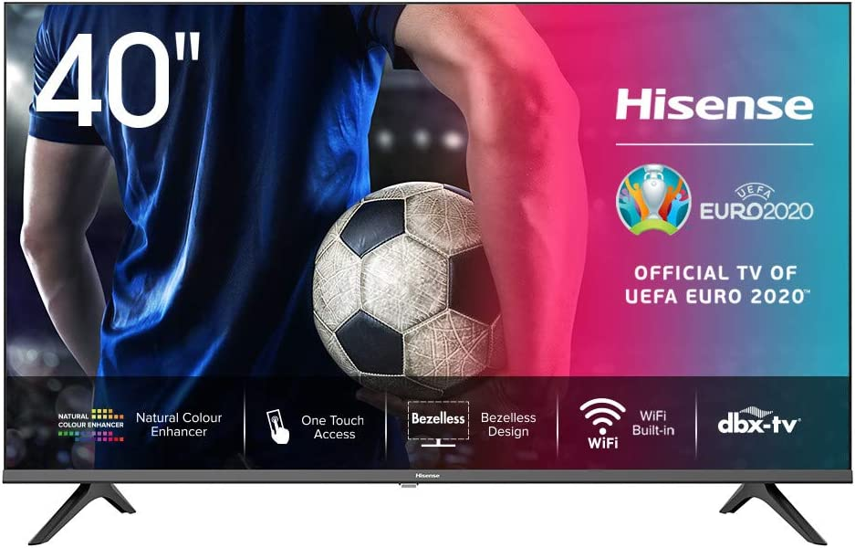 Hisense FHD TV 2020 40AE5500F - Smart TV Resolución Full HD, Natural Color Enhancer, Dolby Audio, Vidaa U 2.5 con IA, HDMI, USB, Salida auriculares